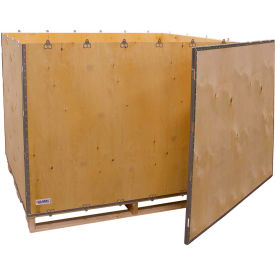 "global industrial™ 6-panel shipping crate with lid & pallet, 60"" x 48"" x 48"" o.d. Global Industrial™ 6-Panel Shipping Crate with Lid & Pallet, 60"" x 48"" x 48"" O.D."