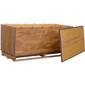"global industrial™ 6-panel shipping crate with lid & pallet, 67"" x 30"" x 30"" o.d. Global Industrial™ 6-Panel Shipping Crate with Lid & Pallet, 67"" x 30"" x 30"" O.D."