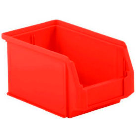 LF090605.0RD1 SSI Schaefer  LF090605.0RD1 - 6 x 9 x 5 LF Hopper Front Plastic Stacking Bin, Red,