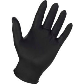PGD8642L ProGuard Industrial Grade Nitrile Gloves, 4 mil, Powder Free, Black, L, 100/Box