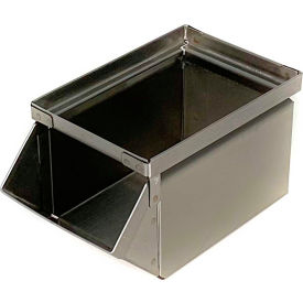 "stackbin® stainless steel stacking hopper front container, 4-1/2""w x 8""d x 4-1/2""h Stackbin® Stainless Steel Stacking Hopper Front Container, 4-1/2""W x 8""D x 4-1/2""H"