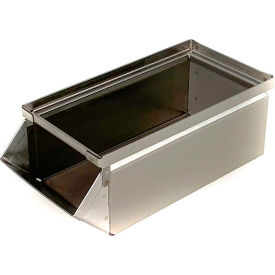 "stackbin® stainless steel stacking hopper front container, 5-1/2""w x 12""d x 4-1/2""h Stackbin® Stainless Steel Stacking Hopper Front Container, 5-1/2""W x 12""D x 4-1/2""H"