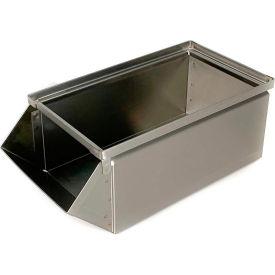 "stackbin® stainless steel stacking hopper front container, 7-1/2""w x 15-1/2""d x 6""h Stackbin® Stainless Steel Stacking Hopper Front Container, 7-1/2""W x 15-1/2""D x 6""H"