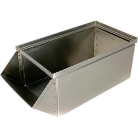 "stackbin® stainless steel stacking hopper front container, 9""w x 18-3/4""d x 7-1/2""h Stackbin® Stainless Steel Stacking Hopper Front Container, 9""W x 18-3/4""D x 7-1/2""H"