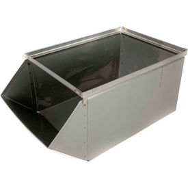 "stackbin® stainless steel stacking hopper front container, 12""w x 20-1/2d x 9-1/2""h Stackbin® Stainless Steel Stacking Hopper Front Container, 12""W x 20-1/2D x 9-1/2""H"