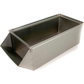 "stackbin® stainless steel stacking hopper front container, 10""w x 24d x 8""h Stackbin® Stainless Steel Stacking Hopper Front Container, 10""W x 24D x 8""H"