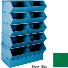 "stackbin® 3-5sbgn 6"" high section bases for 37""w x 24""d bins, green Stackbin® 3-5SBGN 6"" High Section Bases For 37""W x 24""D Bins, Green"