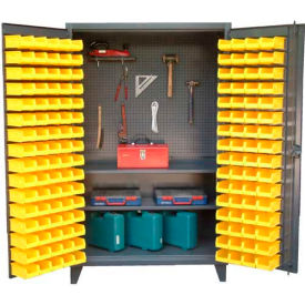 "36-BS-PB-242 Strong Hold Upright Tool Storage Cabinet with 94 Bins 36-BS-PB-242 - 36""W x 24""D x 78""H"