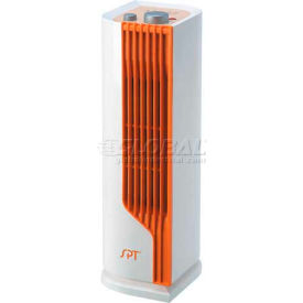 sunpentown spt® mini tower heater, white/orange sh-1507 Sunpentown SPT® Mini Tower Heater, White/Orange SH-1507