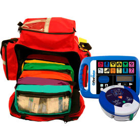 first voice™ jump bag first aid responder kit with aed First Voice™ Jump Bag First Aid Responder Kit with AED