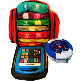 first voice™ backpack first aid responder kit with aed First Voice™ Backpack First Aid Responder Kit with AED