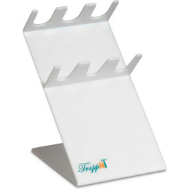 "trippnt™ 3-slot slanted acrylic auto pipettor holder, 5""w x 7""d x 8""h, white TrippNT™ 3-Slot Slanted Acrylic Auto Pipettor Holder, 5""W x 7""D x 8""H, White"