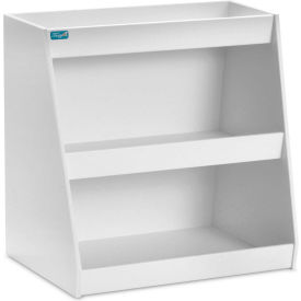 "trippnt™ white pvc angled triple safety shelf station, 12""w x 9""d x 12""h TrippNT™ White PVC Angled Triple Safety Shelf Station, 12""W x 9""D x 12""H"