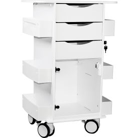 "trippnt™ white deluxe medical cart with clear swinging hinged door, 23""w x 19""d x 35""h TrippNT™ White Deluxe Medical Cart with Clear Swinging Hinged Door, 23""W x 19""D x 35""H"