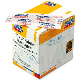 first aid only g-122 fabric bandages, 1 x 3, 100/box First Aid Only G-122 Fabric Bandages, 1 x 3, 100/Box