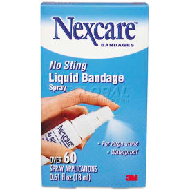 3m nexcare 11803 no-sting liquid bandage spray, .61 oz. 3M Nexcare 11803 No-Sting Liquid Bandage Spray, .61 oz.