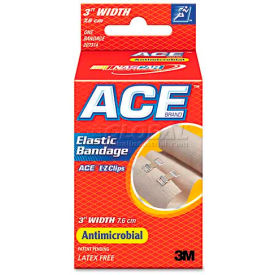"ace 207314 elastic bandage with e-z clips, 3"" ACE 207314 Elastic Bandage with E-Z Clips, 3"""