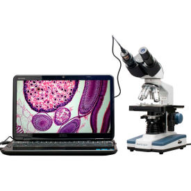 amscope b120c-e1 40x-2500x led digital binocular compound microscope with 3d stage +1.3mp usb camera AmScope B120C-E1 40X-2500X LED Digital Binocular Compound Microscope with 3D Stage +1.3MP USB Camera