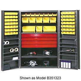 F88124A5 Vari-Tuff Utility Drawer Cabinet - 36x24x72 With 52 Bins