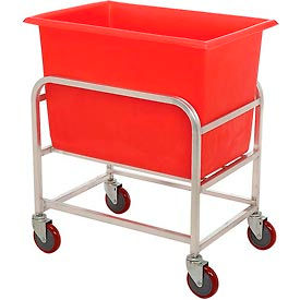 "30-6-A/RD Winholt Aluminum Bulk Mover 6 Bushel 30-6-A/RD with Red Tub, 33""L x 24""W x 36""H"