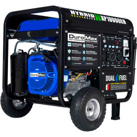 duromax hybrid portable generator w/ electric start, dual fuel, 10000 rated watts DuroMax Hybrid Portable Generator W/ Electric Start, Dual Fuel, 10000 Rated Watts
