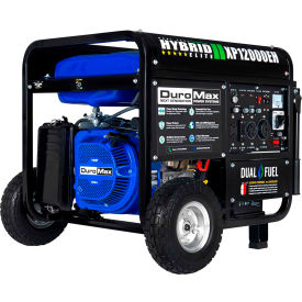 duromax xp12000eh 12,000 watt hybrid portable generator dual fuel electric start 120/240v