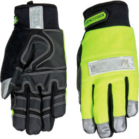 08-3710-10-L High Visibility Performance Gloves - Safety Lime - Winter - Large