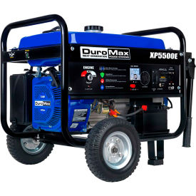 duromax portable gas generator w/ electric start, gas powered, 5500 rated watts