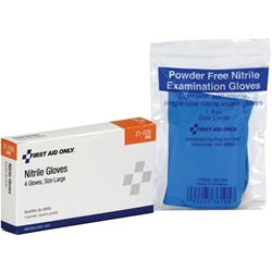 Exam-Quality Gloves (Unitized Refill), Nitrile (Latex Free), 2 Pair