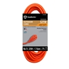 Outdoor Extension Cord, 16/3 ga, 13 A, 25, Orange