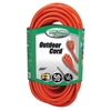 Outdoor Extension Cord, 16/3 ga, 13 A, 50, Orange