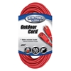 Outdoor Extension Cord, 14/3 ga, 15 A, 50, Red