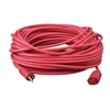 Outdoor Extension Cord, 14/3 ga, 15 A, 100, Red