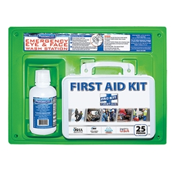 Contractors First Aid Kit & Eyewash Station