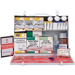 2-Shelf, 75-Person First Aid Station w/ 8-Pocket Liner