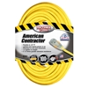 Outdoor Extension Cord w/ Lighted End, 12/3 ga, 15 A, 100