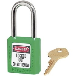 Master Lock® 410 Zenex™ Thermoplastic Safety Padlock, Green