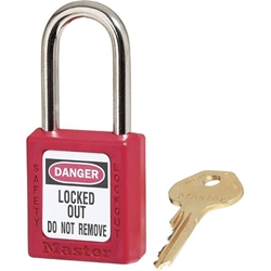 Master Lock® 410 Zenex™ Thermoplastic Safety Padlock, Red