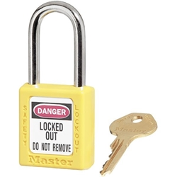 Master Lock® 410 Zenex™ Thermoplastic Safety Padlock, Yellow