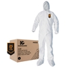 KleenGuard* A40 Liquid & Particle Protection Coveralls w/ Hood, Boots, & Elastic Wrists, Large