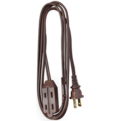 Cube Tap Extension Cord, 6, Brown