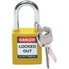Brady® Safety Padlock, Yellow, 1/Pkg