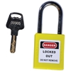 "TruForce™ Thermoplastic Padlock w/ Steel Shackle, 1 1/2"", Yellow"